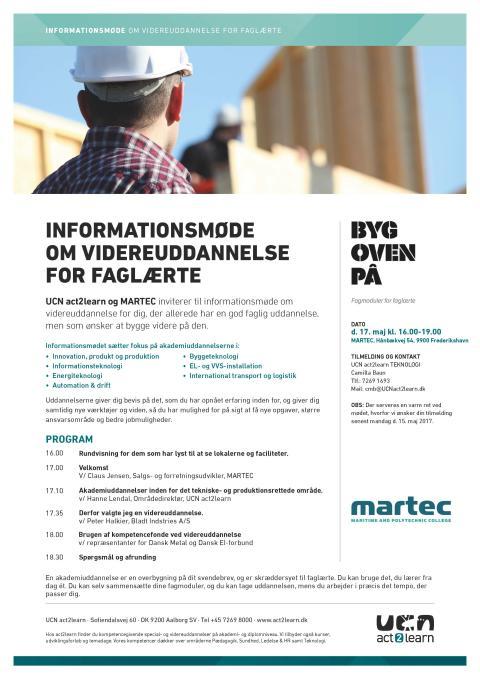 Informationsmøde om videreuddannelse for faglærte