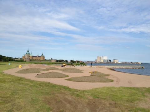 Smygpremiär för nya Kalmarsundsbadet i Kalmar