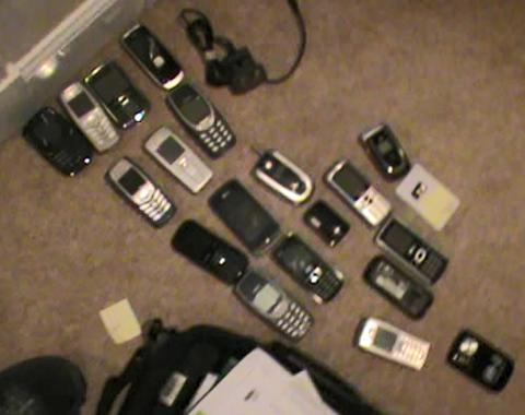 Phones seized from John Farrell's house