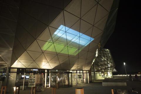 Film på facaden af Kulturværftet