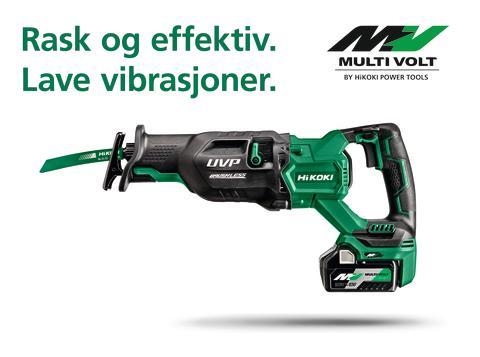 Nyhet! MULTI VOLT 36V Bajonettsag CR36DA - med suveren ergonomi og raskest i klassen!