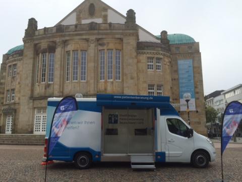 Beratungsmobil der Unabhängigen Patientenberatung kommt am 1. November nach Osnabrück.