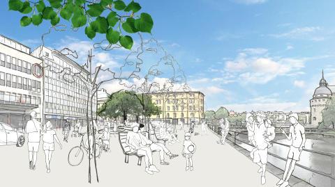 Framtidsvisioner och säkerhetscertifiering i centrala Örebro i City Örebros regi