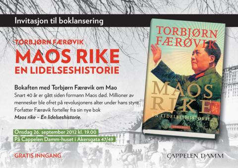 ÅPEN DØR: Velkommen til bokaften med Torbjørn Færøvik om Mao