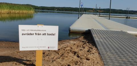 Miljö- och hälsoskyddsnämnden - Avrådan från bad vid Hunnerydsbadet på grund av algblomning