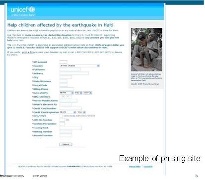 Bedragare på nätet utnyttjar Haiti-katastrofen