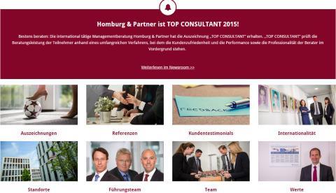 Neue Homepage von Homburg & Partner: Impressionen