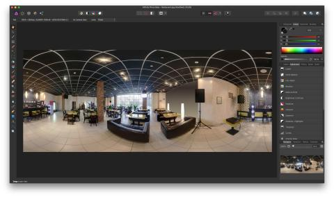 Affinity Photo v1.5 360 degree screenshot