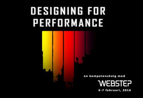 Designing for Performance - en kompetenshelg med Webstep