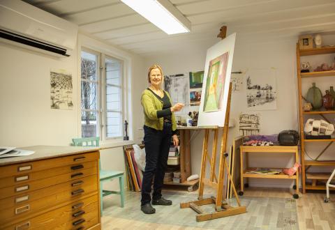 Marianne Degerman – konstnären som flyttade från Sundsvall till Lindesberg