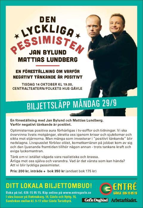Den Lyckliga Pessimisten blir föreställning – premiär i Gävle