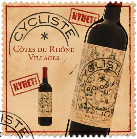 Med inspiration från cykelns historia_Makalöst populära Cycliste Côtes du Rhône Villages 2014, 89 kr
