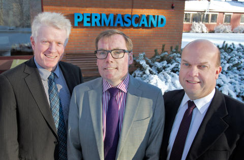 Permascand's senior management and happy new owners