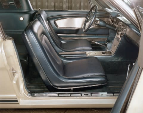 Edsel Ford II's 1965 Ford Mustang Fastback, innvendig
