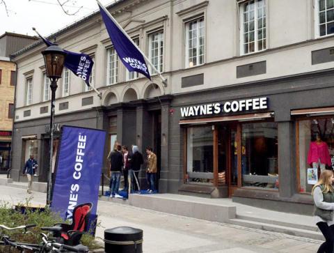 Nu kommer Wayne's Coffee Nyköping, Motala, Falköping och Helsingborg