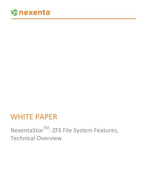 ZFS Technical Overview White Paper