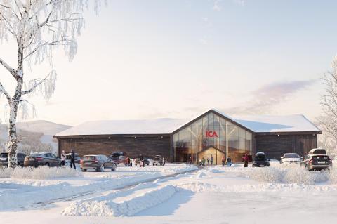 ICA Supermarket Lindvallen. Illustration: Liljewall Visual