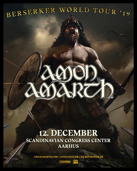 Mægtige Amon Amarth kommer til Aarhus til vinter