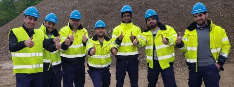 Lovande utbildning av syrier till maskinförare i Höör