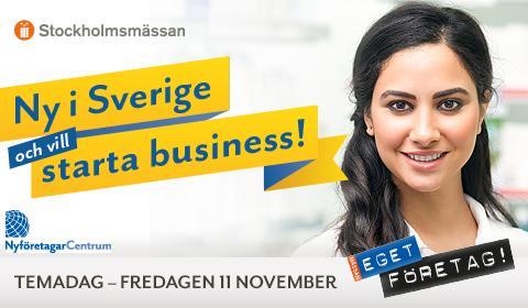 """""""Ny i Sverige- och vill starta business"""""""