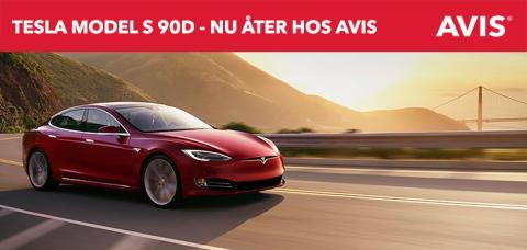 Tesla Model S 90D åter för Minilease hos Avis
