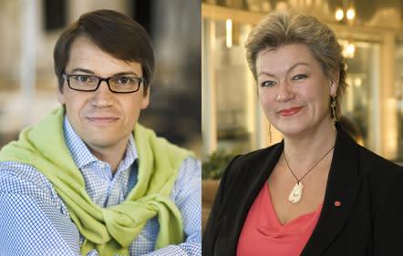 Valduell på Timbro: Socialminister Göran Hägglund (KD) & Ylva Johansson (S) debatterar svensk välfärd.