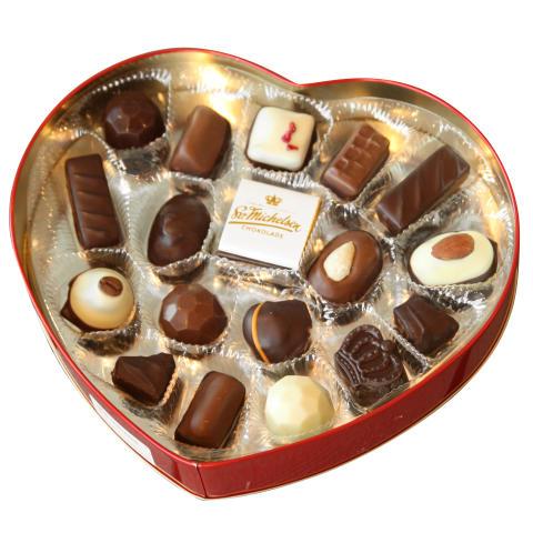 Hjärtformad chokladask med praliner - 2