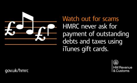 Stay safe this Christmas against the scam involving iTunes gift cards, HMRC urges