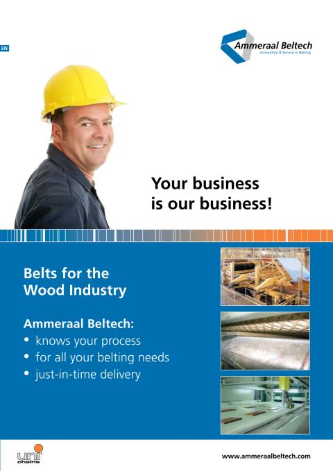 Belts for the Wood Industry, Band till träindustrin.