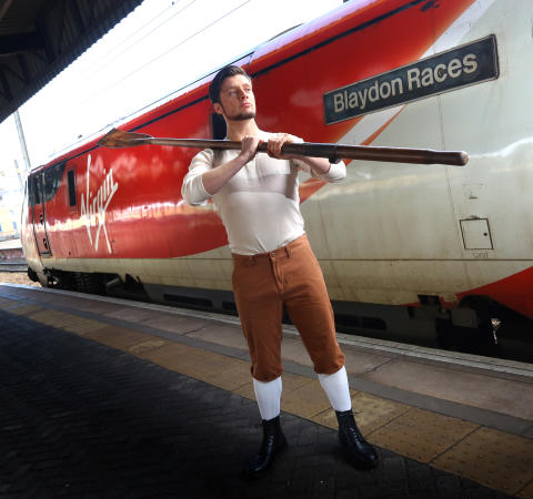 "Virgin Trains helps to stage ""oarsome"" play about local hero"