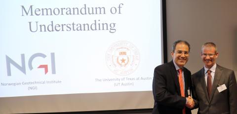 University of Texas Austin og NGI inngår samarbeidsavtale
