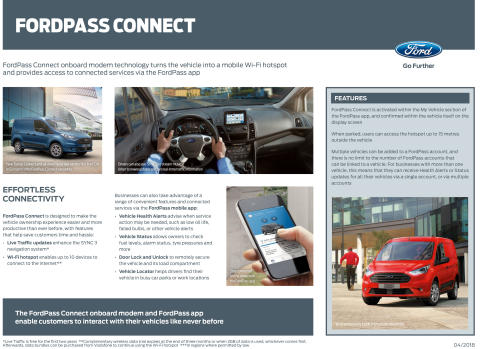 FordPass Connect nyttekjøretøy