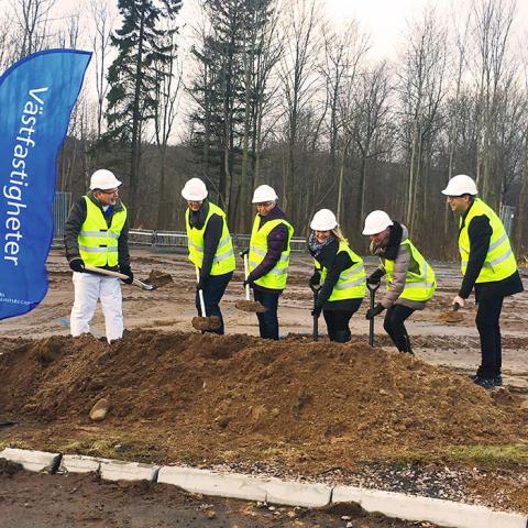 Första spadtaget för Nytt Specialisttandvårdscentrum i Skövde
