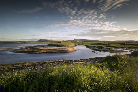 The view towards Largo and Largo Law from Largo Bay, East Neuk of Fife.