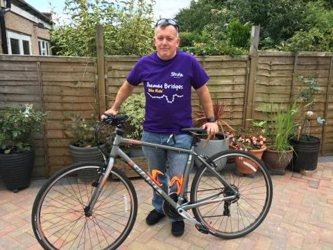 Kingston-upon-Thames stroke survivor set to tackle Thames Bridges Bike Ride