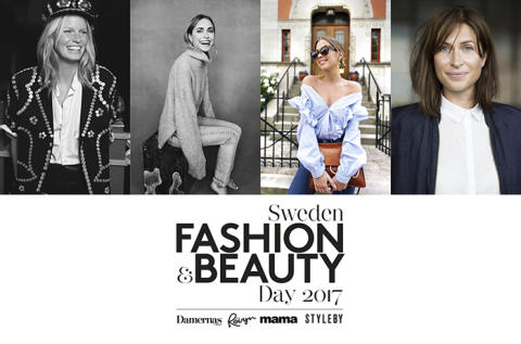Caroline Winberg, Pernille Teisbaek och Kenza till Sweden Fashion & Beauty Day 2017
