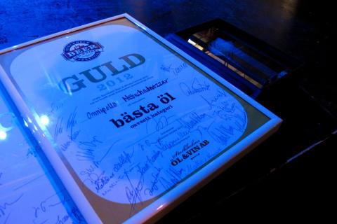 Diplom för festivalens bästa öl 2012 (Nebuchadnezzar)