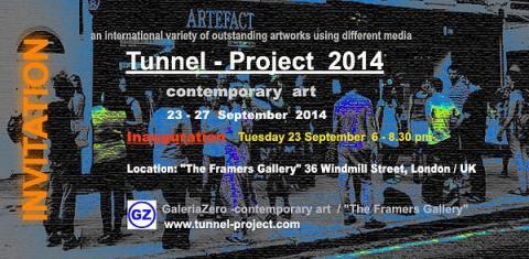 """Invitation to the """"Tunnel Project"""" - Fitzrovia, London."""