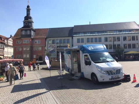 Beratungsmobil der Unabhängigen Patientenberatung kommt am 21. September nach Eisenach.