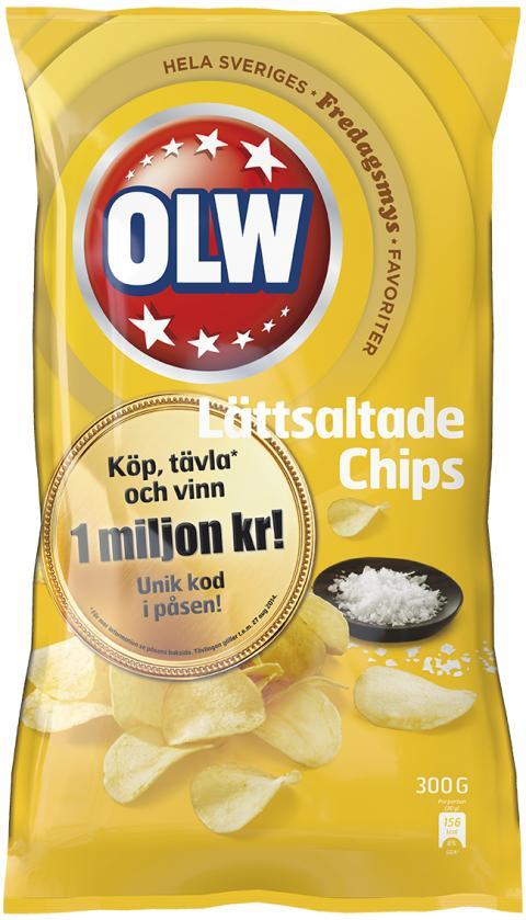 Lättsaltade chips miljon