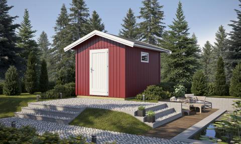 """Balder förråd. Flexibla """"trädgårdsrum"""" i nordisk stil"""