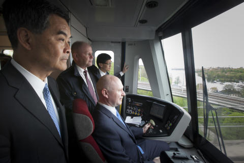 Hongkongs regeringschef besökte MTR