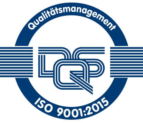 Geschafft!...................................Zertifikat  ISO9001:2015 und DStV-Qualitätssiegel:2015 auch 2018  bestätigt.
