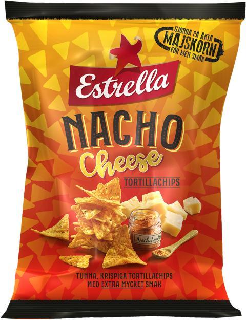 Nacho Cheese Tortillachips från Estrella