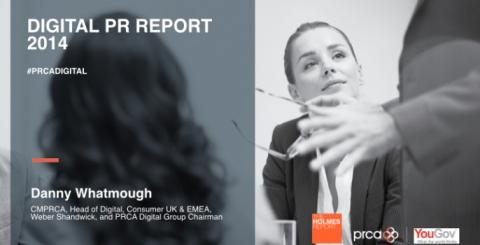 My views on the findings from the PRCA Digital PR Report