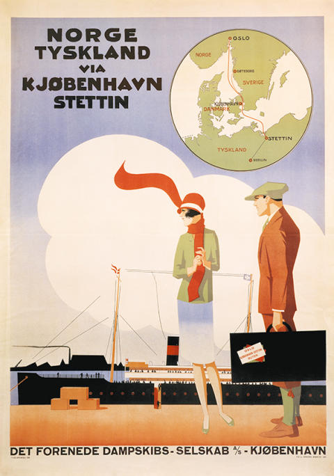 DFDS historisches Poster