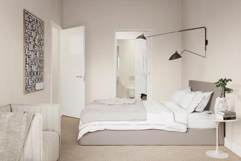 Patriam Karlbergsvägen sovrum