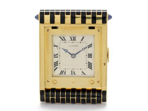 Klockkvaliten våren 2012, nr 34, CARTIER, bordsur,18K guld/onyx, tillverkat ca 1960