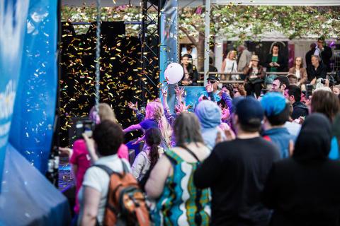 Dammen stage at Eurovision Village in Kungsträdgården Stockholm