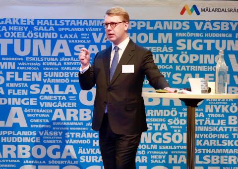 Kristoffer Tamsons (M) föreslås som ny ordförande för Mälardalsrådet